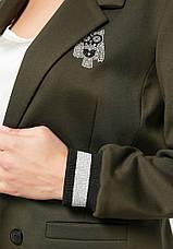 Брючний костюм жіночий для повних оливковий Сова, фото 3