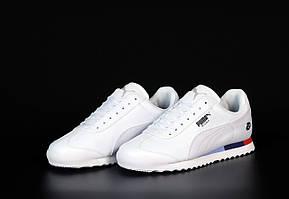Мужские кроссовки Puma Roma ''Bmw'' \ Пума Рома БМВ Белые \ Чоловічі кросівки Пума Рома БМВ Білі