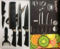 Набор ножей подарочный в коробке Benson 6 предметов BN-410