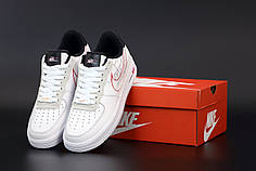 Женские кроссовки Nike Air Force. White Black . ТОП Реплика ААА класса.