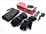 Шкіряні мотоциклетні рукавички з підігрівом WINNA P-1 з LED дисплеєм, водонепроникні, 65°C, 7.4 V / 2200mAh, фото 4