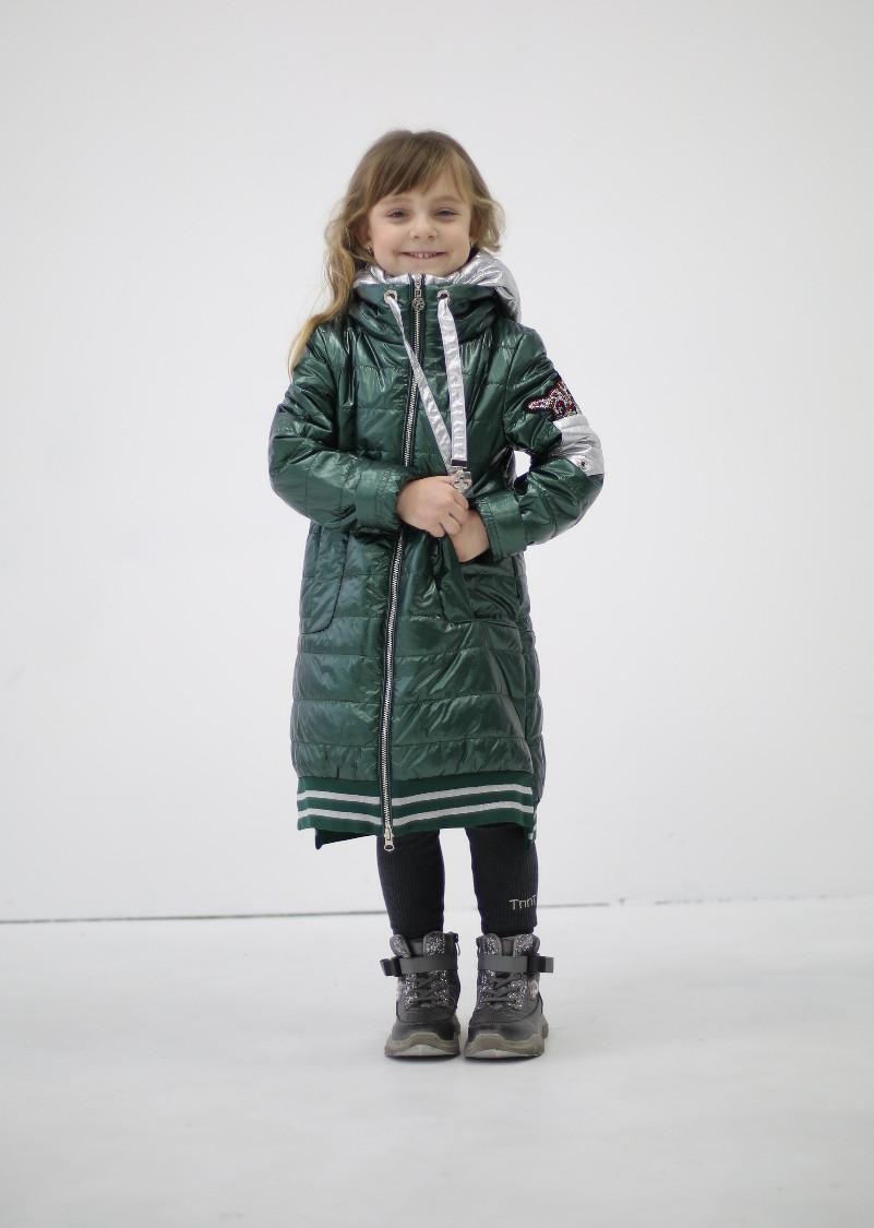 Детское демисезонное пальто для девочки, от Anernuo 2056, размеры на рост 130, 140, 150, 160, 170