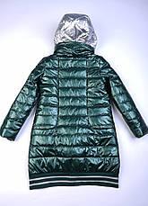 Детское демисезонное пальто для девочки, от Anernuo 2056, размеры на рост 130, 140, 150, 160, 170, фото 3
