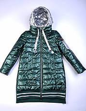 Детское демисезонное пальто для девочки, от Anernuo 2056, размеры на рост 130, 140, 150, 160, 170, фото 2