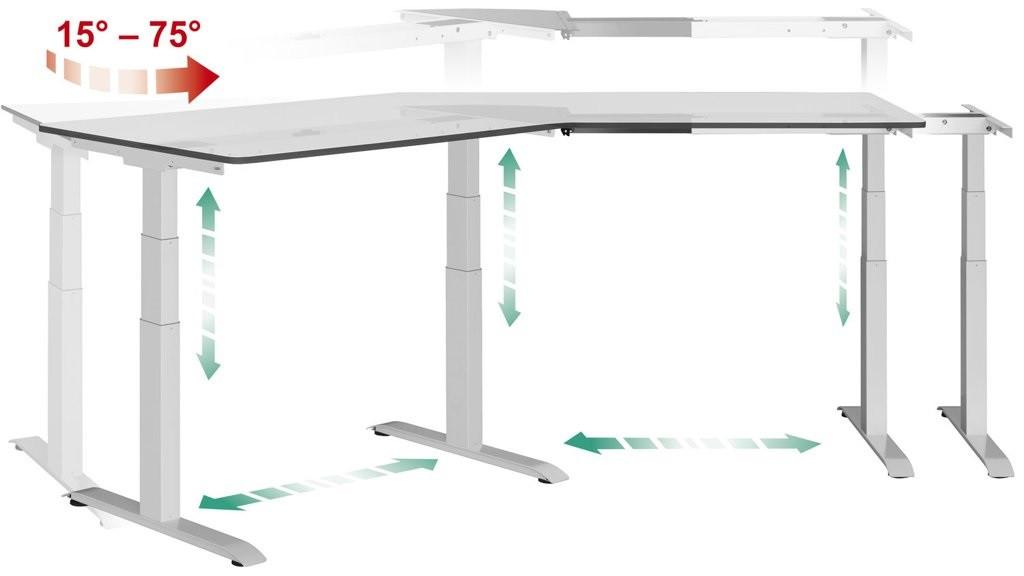 Мaster angle version 30⁰  Эргономичный стол для работы стоя и сидя регулируемый по высоте электроприводом