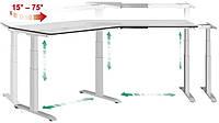 Мaster angle version 30⁰  Эргономичный стол для работы стоя и сидя регулируемый по высоте электроприводом, фото 1