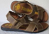 Мужские босоножки Timberland коричневые кожаные сандали сандалии обувь лето, фото 1