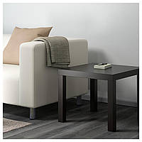 Стол IKEA LACK, черно-коричневый  (801.042.68)