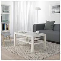Стол IKEA LACK, белый, клетчатый  (704.271.17)