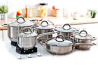 Набор кастрюль Edenberg EB-4001 с ковшом и сковородой, фото 1