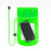 Водонепроницаемый чехол для телефона, фотоаппарата, документов и прочего зеленый