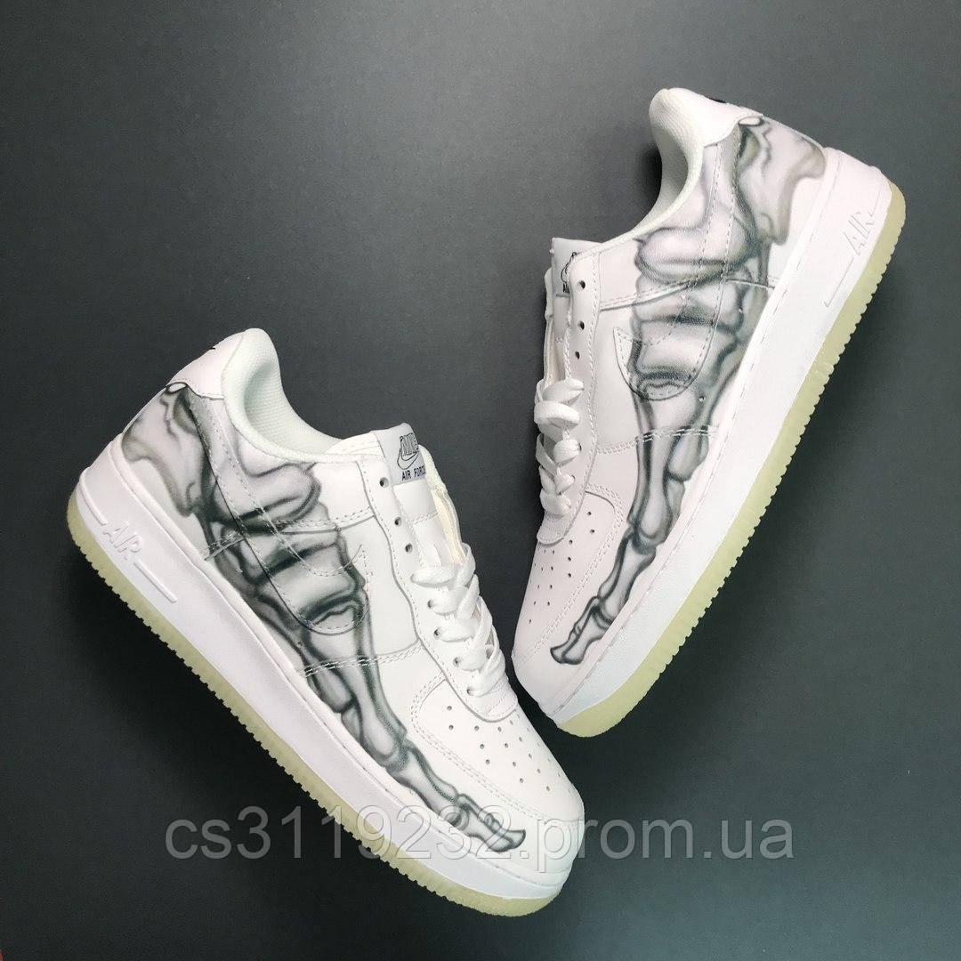 Мужские кроссовки Nike Air Force Low Bone White (белые)