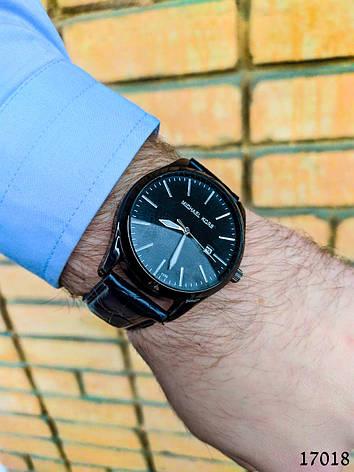 Часы мужские. Мужские наручные часы черного цвета. Часы с черным циферблатом Годинник чоловічий, фото 2