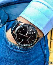 Часы мужские. Мужские наручные часы черного цвета. Часы с черным циферблатом Годинник чоловічий, фото 3