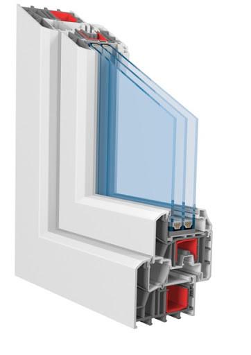 Вікна металопластикові KBE Optima (6-ти камерний профіль)