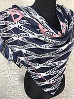 Платок брендовый шелковый Balenciaga PARIS