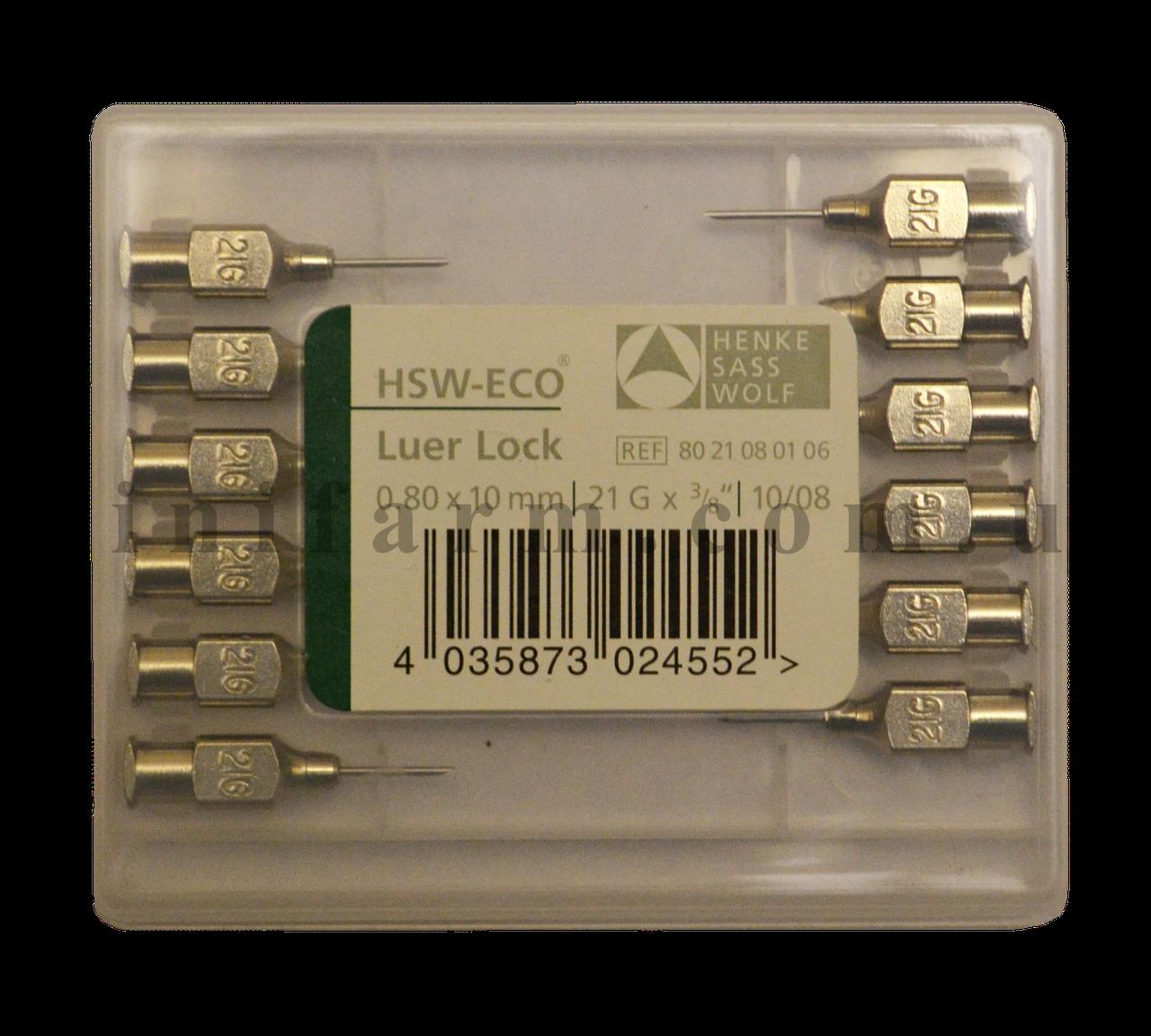 Игла HSW-ECO 0,80х10 мм