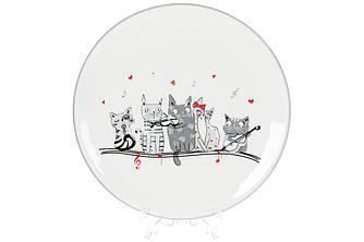 Тарелка керамическая с объемным рисунком Ночная серенада, 20см