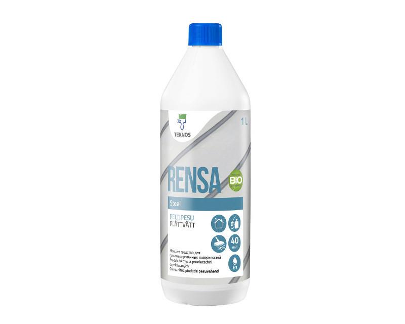Очиститель кислотный TEKNOS RENSA STEEL  для новой оцинковки 1л