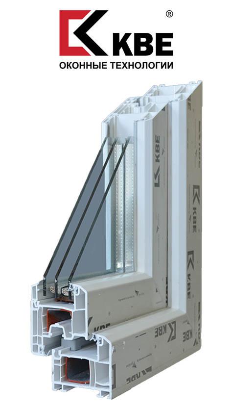 Окна металлопластиковые KBE Balance 4-х камерный профиль