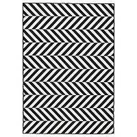 IKEA SKARRILD Ковер безворсовый, внутренний/внешний, белый, черный  (504.351.99), фото 1