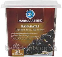 Оливки вяленые черные со специями (маслины) Marmarabirlik 2XS 400 г