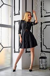 Сукня з замша 1224.8 колір чорний