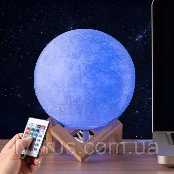 Светильник с пультом ночник Луна 3D Moon LIGHT сенсорный 13 см 16 режимов свечения