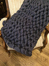 Шерсть для пледа (толстая пряжа) серия Кросс, цвет гроза, фото 2