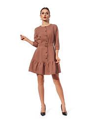 Сукня з замша 1224.5 колір коричневий