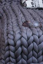 Шерсть для пледа (толстая пряжа) серия Кросс, цвет туча, фото 2