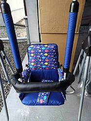 Качель Adbor Luna синяя (ремень безопасности, баръерка)(цвета в ассортименте)