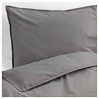 IKEA ANGSLILJA Комплект постельного белья, серый  (704.012.64), фото 1
