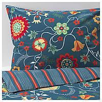 IKEA ROSENRIPS Комплект постельного белья, синий узор  (604.004.39), фото 1