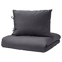 IKEA PUDERVIVA Комплект постельного белья, темно-серый  (403.530.28)