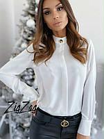 Женская стильная блуза с манжетом