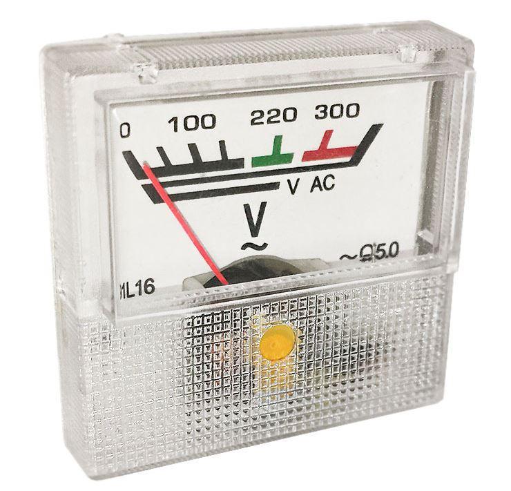 Вольтметр стрелочный 220V 91L16 шкала ~0-300V
