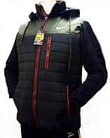 Мужской демисезонный жилет с капюшоном (р52-54)