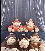 Детский плед с игрушкой 3 в 1, плед игрушка подушка обезьянка