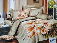 Сатиновое постельное белье евро 3D ELWAY S167