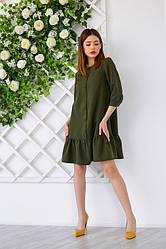 Сукня з замша 1224.2 колір хакі