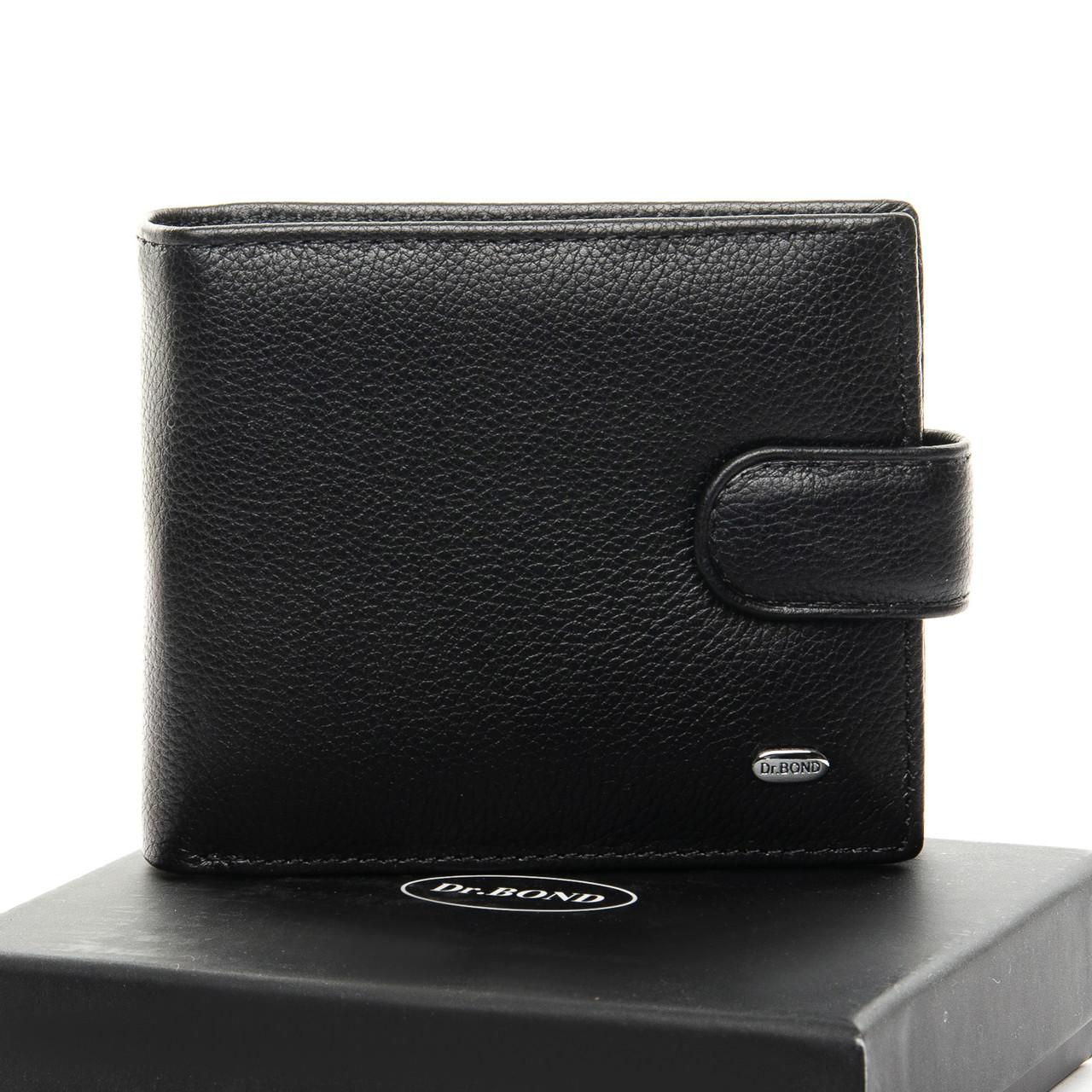 Мужской кошелек Classic кожа DR. BOND MS-28 черный