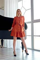 Сукня з замша 1224.1 колір цегляний