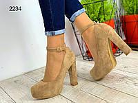 Красивые бежевые туфли. Весна, фото 1