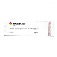 Пакеты  для стерилизации, 200 шт, 70 мм * 260 мм, Black Sea Med