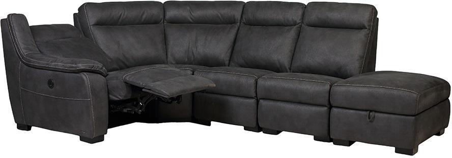 "Угловой диван с реклайнером ""Монтана"" ткань серый TM ""Bellini"""