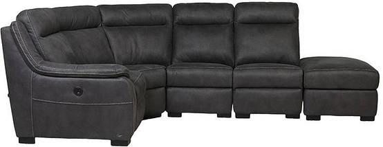"Угловой диван с реклайнером ""Монтана"" ткань серый TM ""Bellini"", фото 2"
