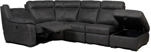 "Угловой диван с реклайнером ""Монтана"" ткань серый TM ""Bellini"", фото 3"