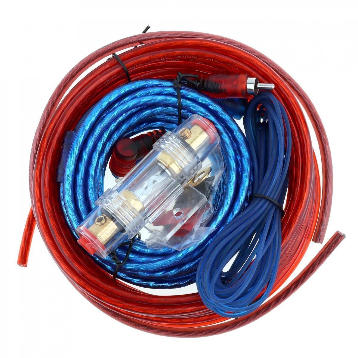 Комплект проводов среднего полу-профессионального уровня для подключения усилителей или сабвуферов до 3200 Вт