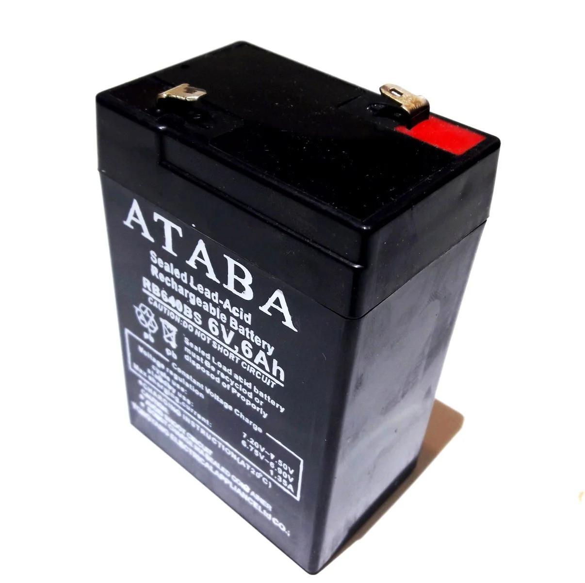 Акумулятор ATABA 6V 6Ah
